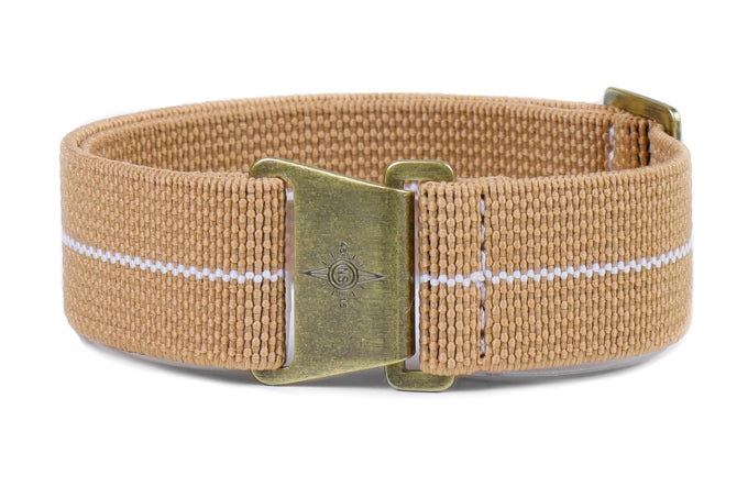 Bronze Marine Nationale Strap Khaki and White