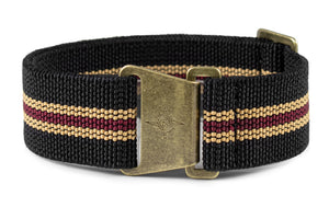 "Bronze Marine Nationale Strap ""The Black Bay"""