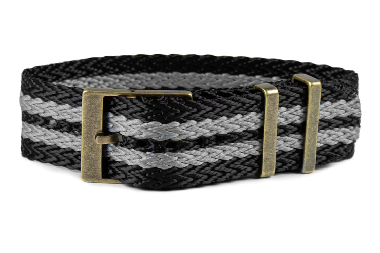 "Bronze SharkTooth Strap Black and Gray ""James Bond"""