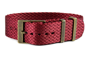 Bronze SharkTooth Strap Burgundy