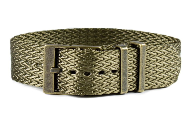 Bronze SharkTooth Strap Khaki Green