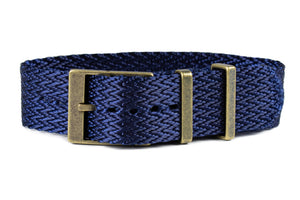 Bronze SharkTooth Strap Navy