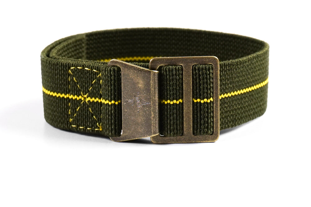 Paratrooper Bronze Strap Khaki Green and Yellow
