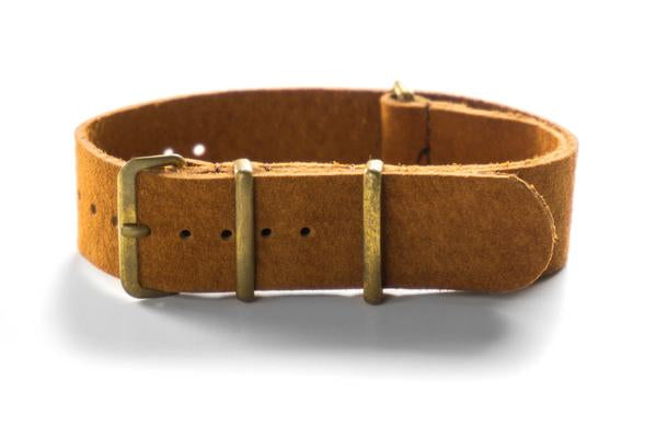 Bronze Suede NATO Strap Brown