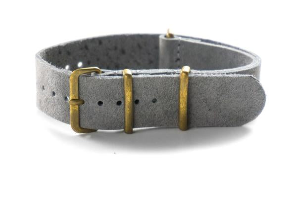 Bronze Suede NATO Strap Gray (18 & 22 mm)