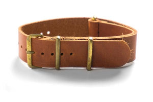 Bronze Leather NATO Strap Oak