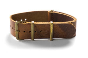 Bronze Leather NATO Strap Sienna