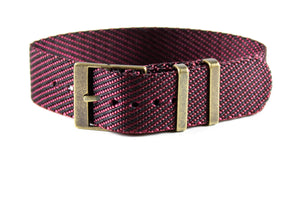 Adjustable Bronze Single Pass Strap Burgundy