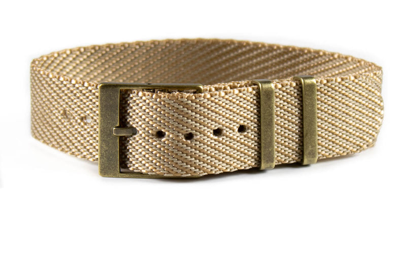 Adjustable Bronze Single Pass Strap Khaki