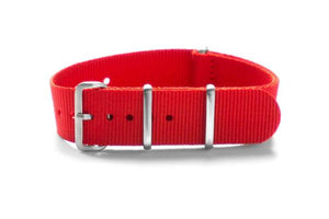 Brushed Premium NATO strap Red (18 mm)