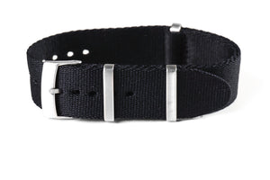 Deluxe Brushed Seat Belt NATO Black