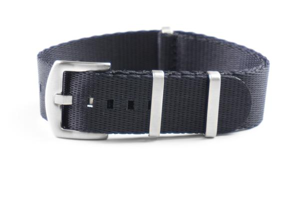 Budget Seat Belt NATO strap Black (18, 20, 22 & 24 mm)