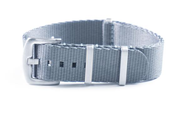 Budget Seat Belt NATO strap Ice Gray (18, 20 & 22 mm)