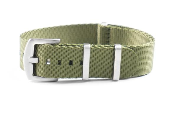 Budget Seat Belt NATO strap Khaki Green (20 & 22 mm)