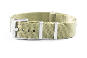 Budget Seat Belt NATO strap Olive Green (20 & 22 mm)