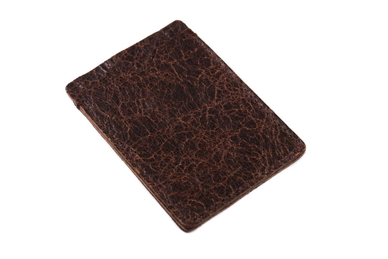Card Holder Rugged Brown