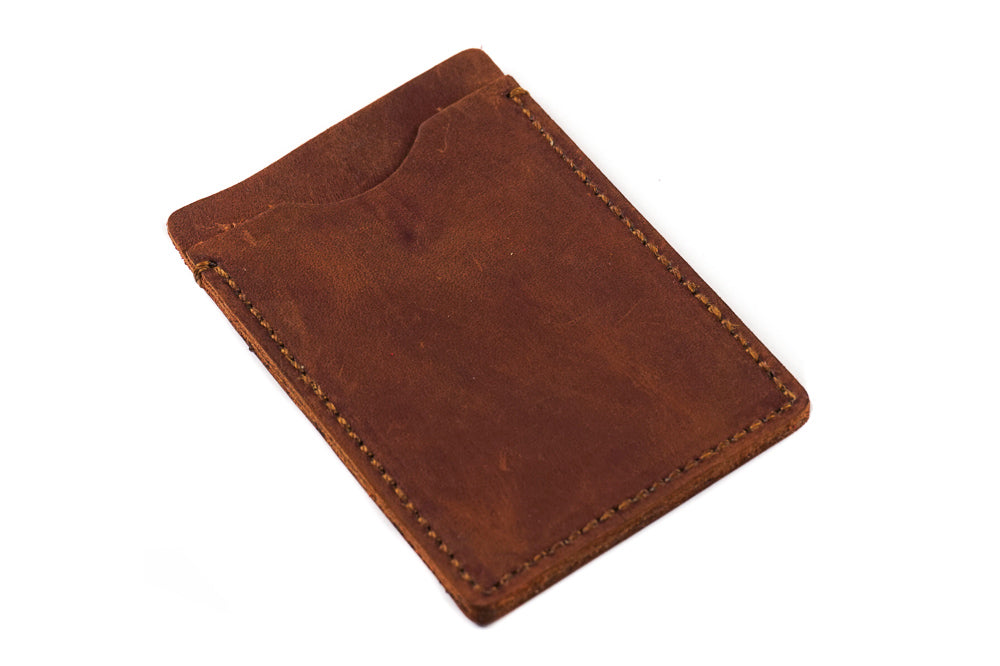 Card Holder Rugged Oiled Brown