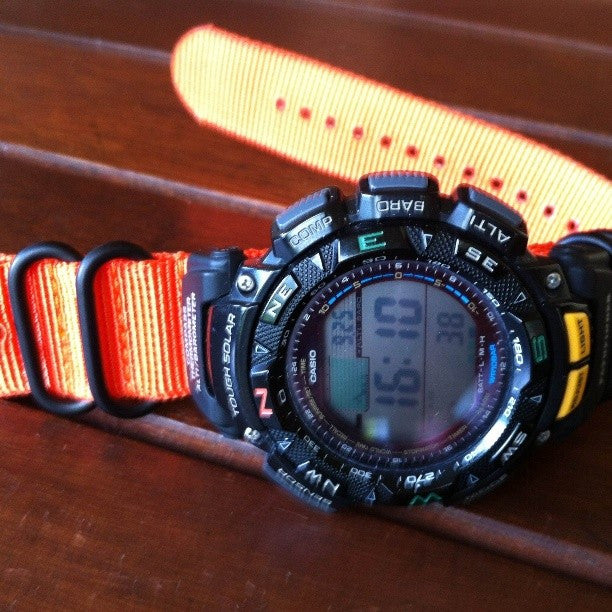 Extra Long PVD Zulu Strap 5-ring Orange - Cheapest NATO Straps  - 8