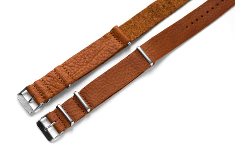 Leather NATO Strap Rum Vintage (20 mm)