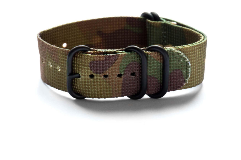 PVD Zulu Strap 5-ring Camouflage - Cheapest NATO Straps  - 1
