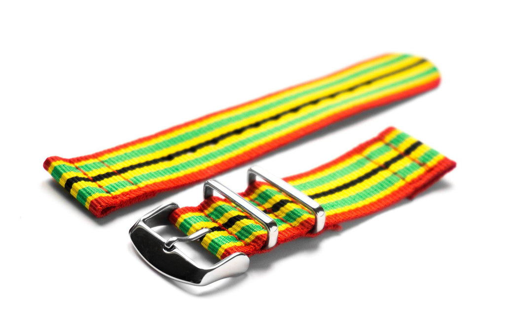 Two Piece NATO Strap Jamaica - Cheapest NATO Straps  - 1