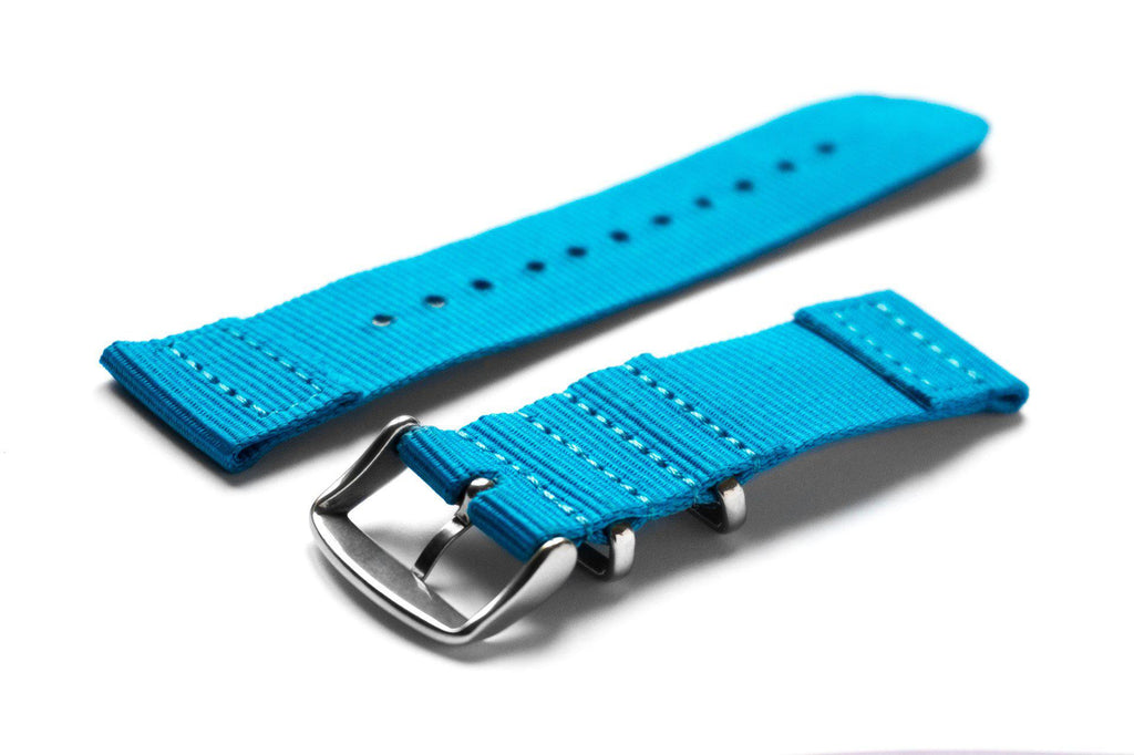 Two Piece NATO Strap Azur Blue - Cheapest NATO Straps  - 2