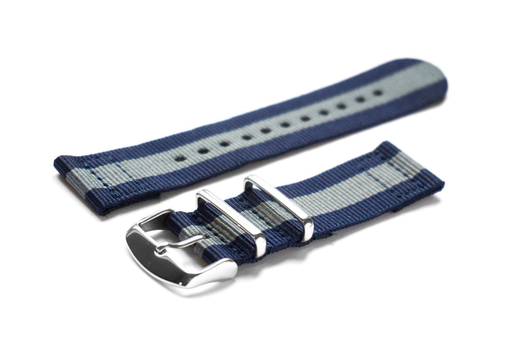 Two Piece NATO Strap Navy and Gray - Cheapest NATO Straps  - 1