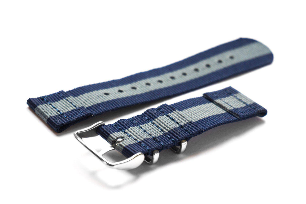 Two Piece NATO Strap Navy and Gray - Cheapest NATO Straps  - 2