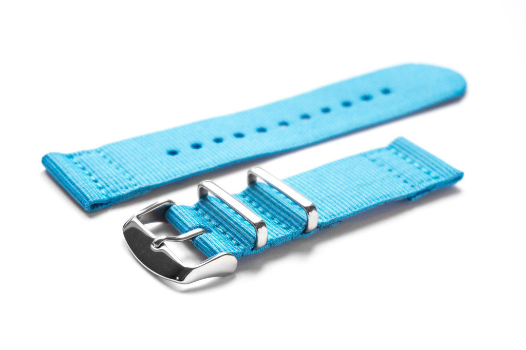 Two Piece NATO Strap Blue - Cheapest NATO Straps  - 1