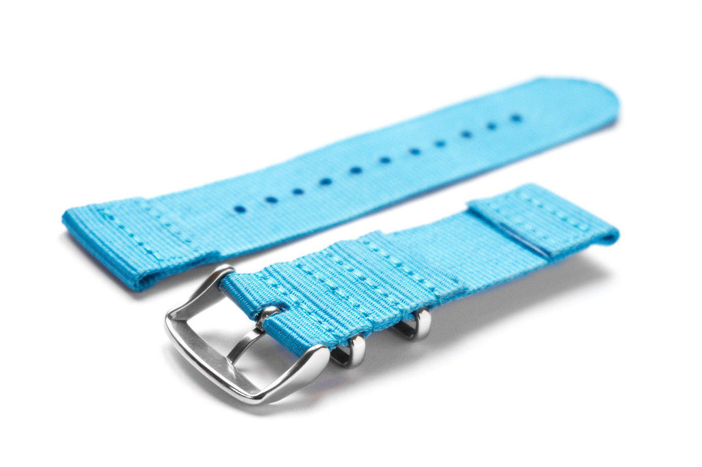 Two Piece NATO Strap Blue - Cheapest NATO Straps  - 2
