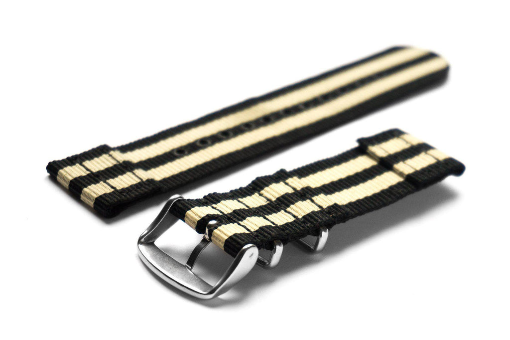 Two Piece NATO Strap Black and Gold - Cheapest NATO Straps  - 2