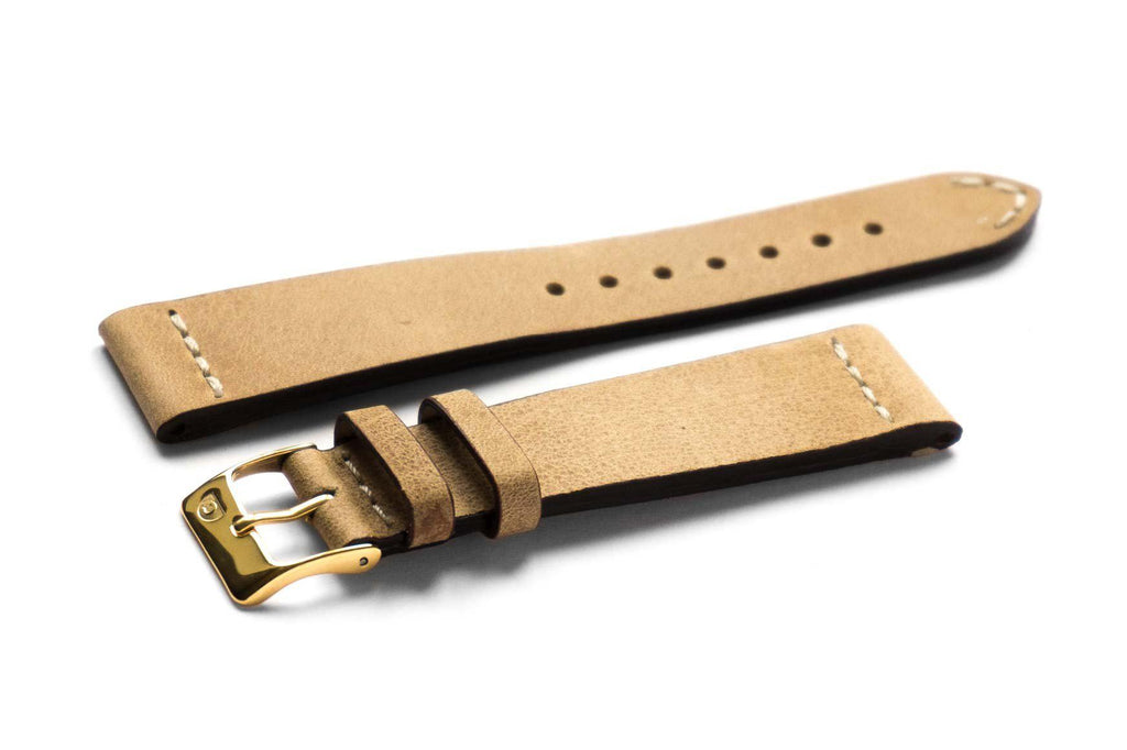 Sienna Natural with gold buckle - Cheapest NATO Straps