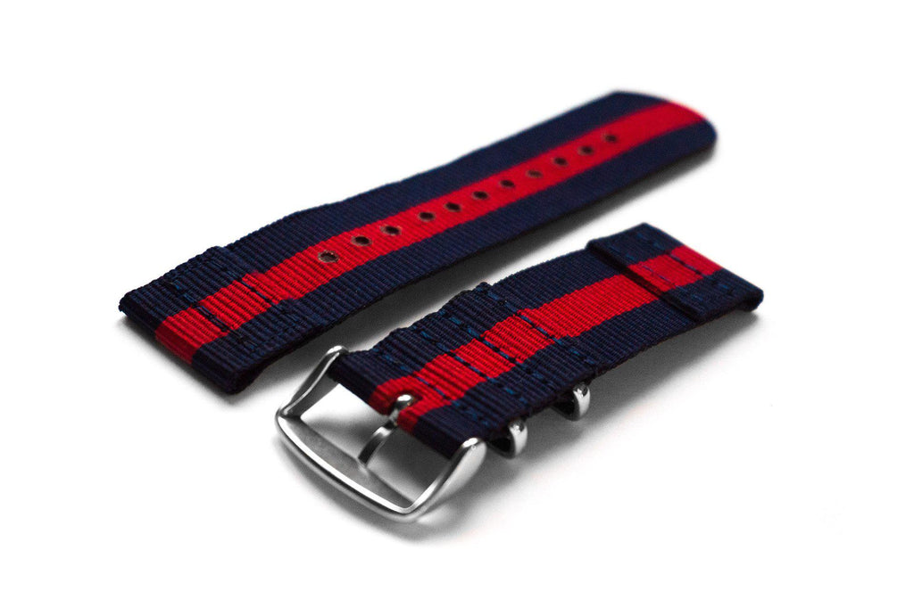 Two Piece NATO Strap Navy and Red - Cheapest NATO Straps  - 2