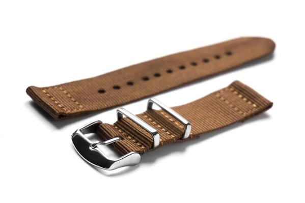Two Piece NATO Strap Brown (18, 20 & 22 mm)