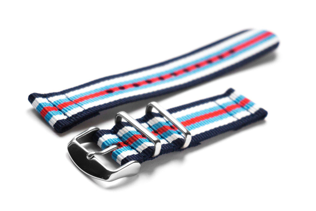 Two Piece NATO Strap Navy, White, Blue and Red - Cheapest NATO Straps  - 1