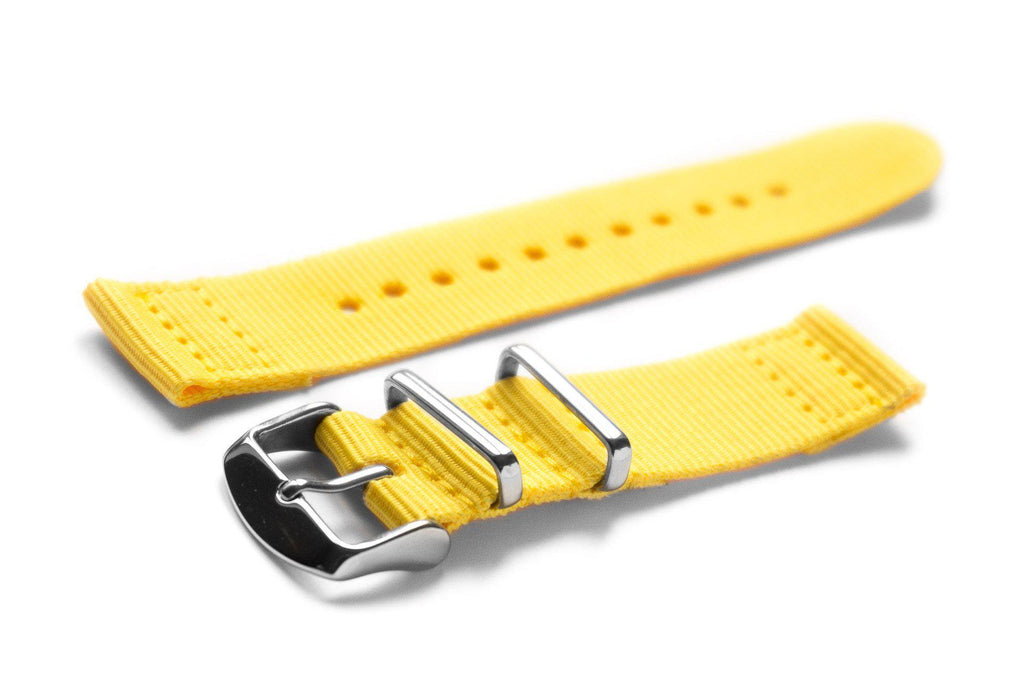 Two Piece NATO Strap Yellow - Cheapest NATO Straps  - 1