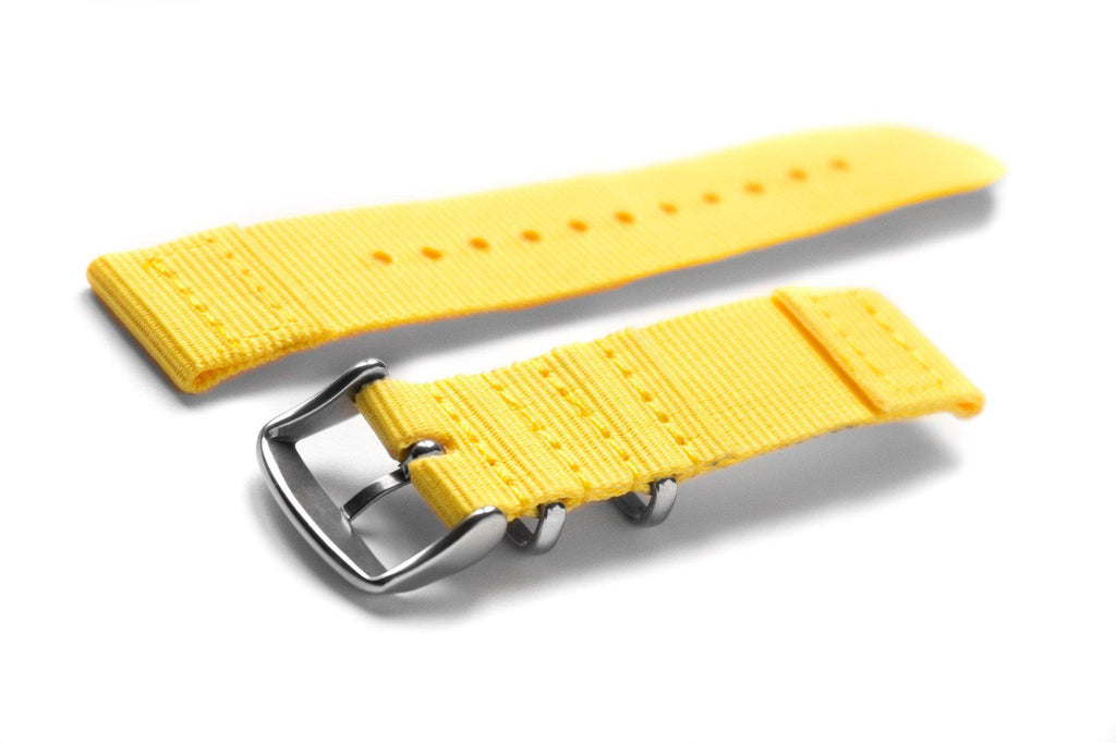 Two Piece NATO Strap Yellow - Cheapest NATO Straps  - 2