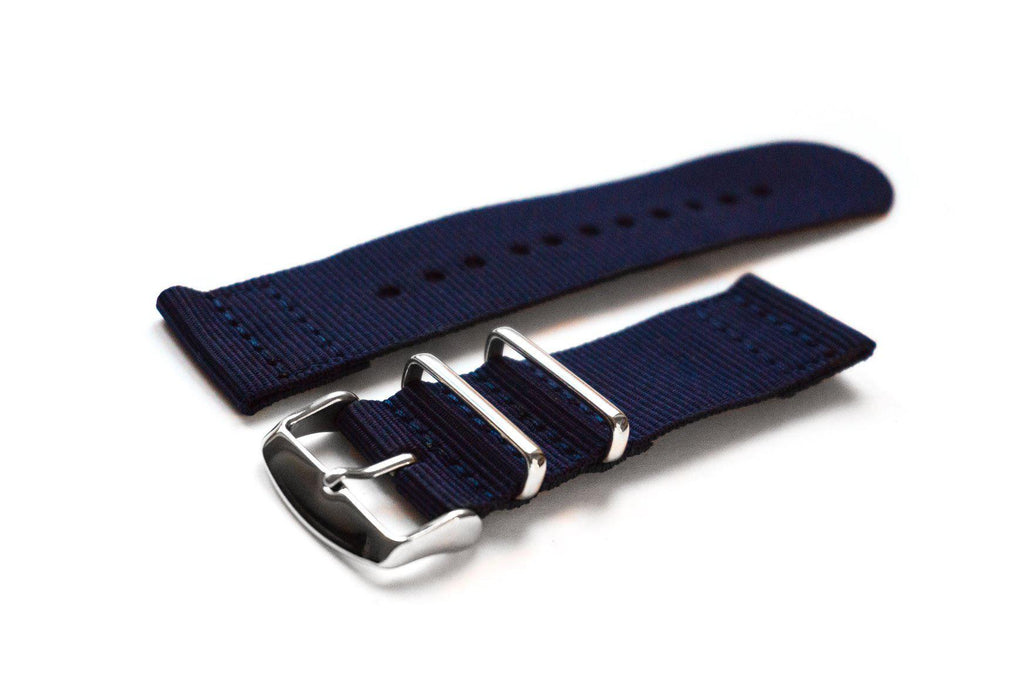 Two Piece NATO Strap Navy - Cheapest NATO Straps  - 1