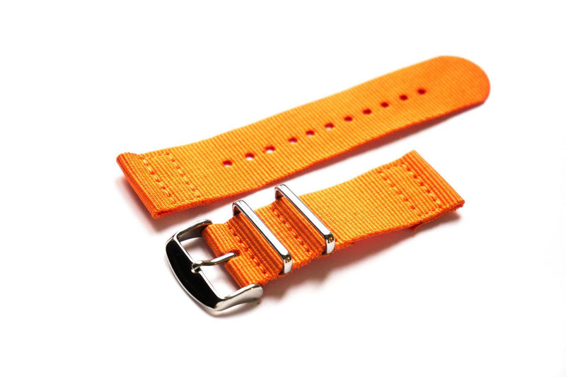 Two Piece NATO Strap Orange - Cheapest NATO Straps  - 1