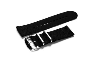 Two Piece NATO Strap Black (26 mm)