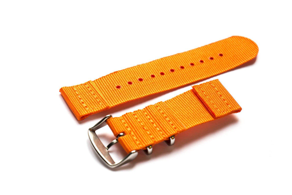 Two Piece NATO Strap Orange - Cheapest NATO Straps  - 2