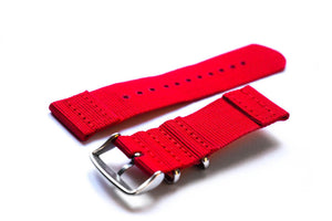 Two Piece NATO Strap Red - Cheapest NATO Straps  - 2