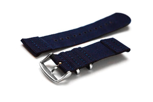 Two Piece NATO Strap Navy - Cheapest NATO Straps  - 2