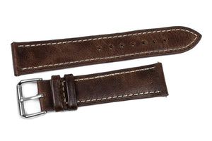 Classic Rustic Brown with White stitching