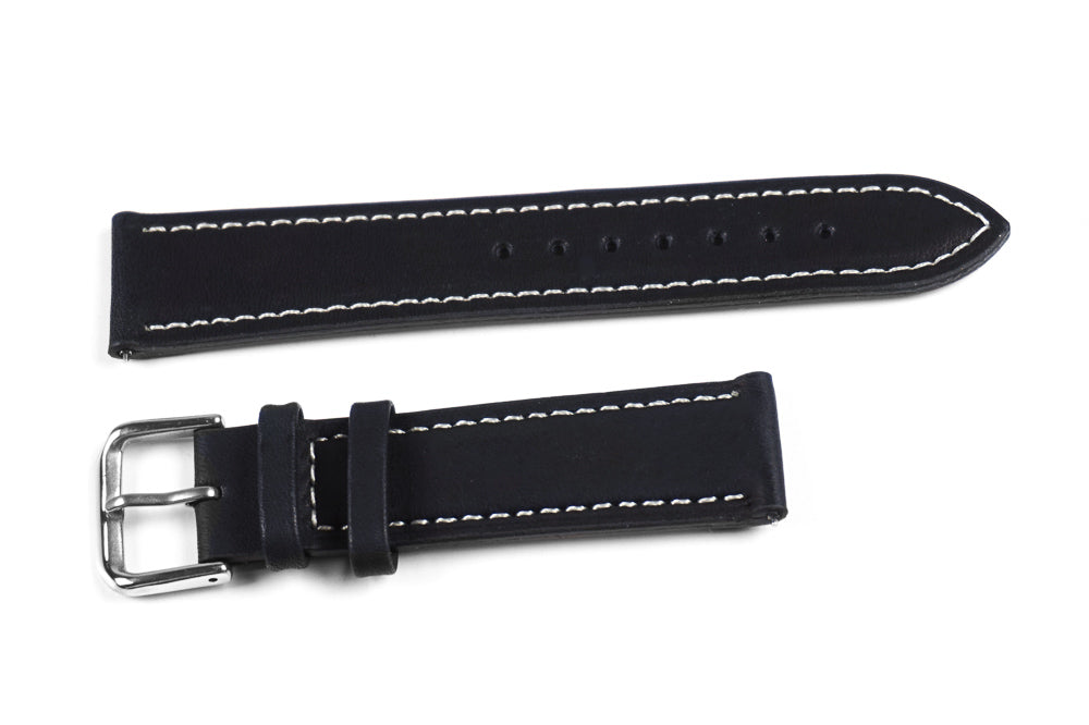 Classic Black with white stitching