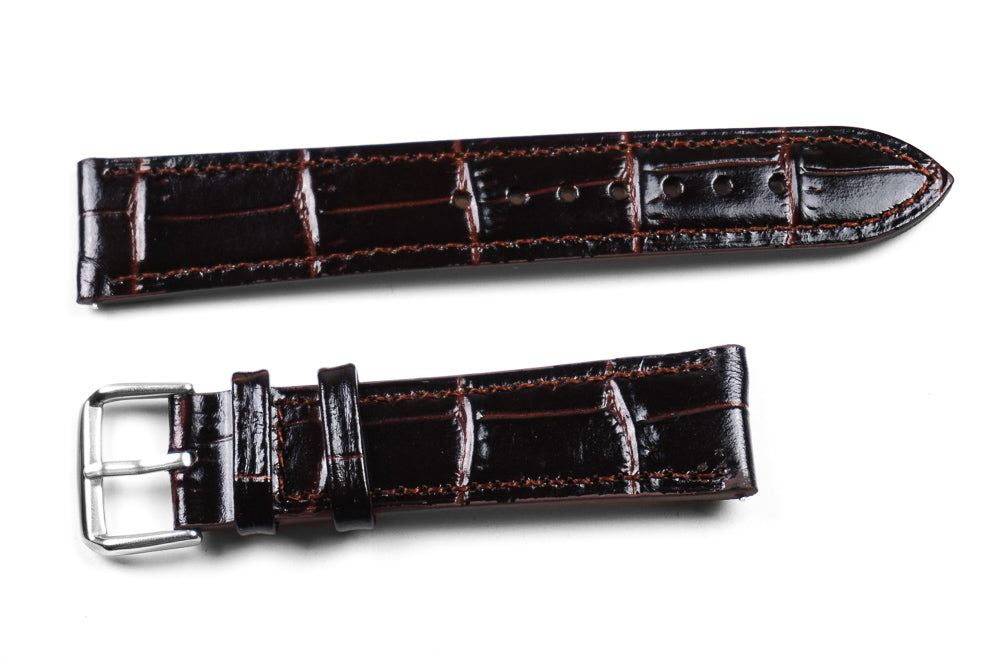 Classic Crocodile Dark Brown