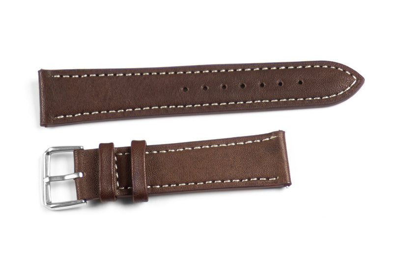 Classic Dark Brown with white stitching