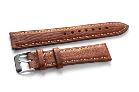 Classic Rusty with white stitching (22 mm)