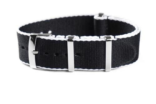 Deluxe Seat Belt NATO Black and white