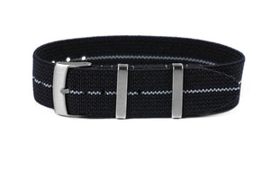 Elastic Single Pass Strap Black and Gray (21 mm)